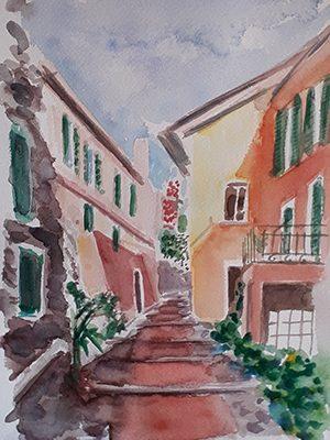 Carruggio in Liguria
